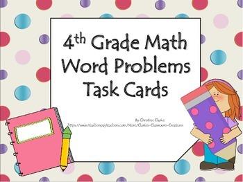 Common Core Math Task Card Bundle- 4th grade
