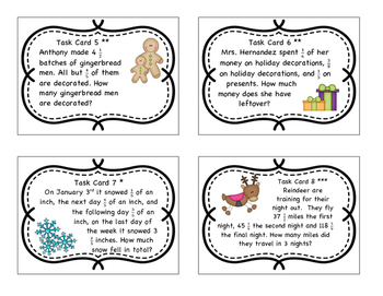 Common Core Math Task Cards