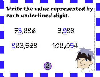 Place Value of Whole Numbers (4.NBT.1):  Math Task Cards