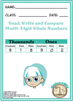 Common Core Math Task Cards: 4.NBT.2 Read and Write Numbers