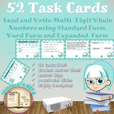 Read and Write Multi-digit Whole Numbers (4.NBT.2): Task Cards