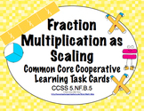 Common Core Math Task Cards (5th Grade): Fraction Multiplication 5.NF.B.5