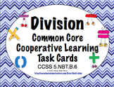 Common Core Math Task Cards (5th Grade): Division 5.NBT.B.6