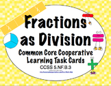 Common Core Math Task Cards (5th Grade): Fractions as Division 5.NF.B.3