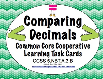 Common Core Math Task Cards (5th Grade): Comparing Decimal