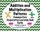 Common Core Math Task Cards Addition and Multiplication Patterns CCSS 3.OA.9
