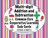 Common Core Math Task Cards - Addition and Subtraction CCSS 4.NBT.4