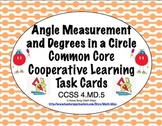 Common Core Math Task Cards - Angle Measurement and 360 Degrees CCSS 4.MD.5