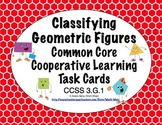 Common Core Math Task Cards Classifying Figures CCSS 3.G.1