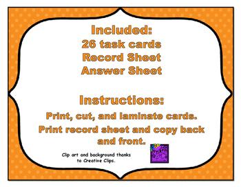 Common Core Math Task Cards - Compare Decimals Part 2