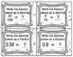 Common Core Math Task Cards Converting Fractions (Tenths and Hundredths) 4.NF.6
