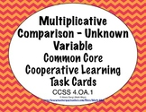 Common Core Math Task Cards -  Equations With an Unknown Variable  CCSS 4.OA.2