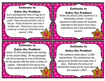 Common Core Math Task Cards - Estimation: Divide by  1-Digit and 2-Digits