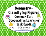 Common Core Math Task Cards Geometry - Classifying Figures CCSS 4.G.2