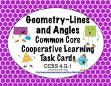 Common Core Math Task Cards Geometry - Lines and Angles CCSS 4.G.1
