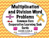 Common Core Math Task Cards Multiplication & Division Word Problems CCSS 3.OA.3