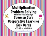 Common Core Math Task Cards Multiplication (Single Digit X Multi-Digit)4.NBT.B.5