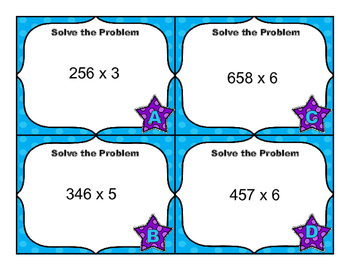 Common Core Math Task Cards - Multiply by 1-Digit