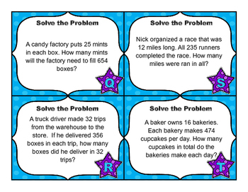 Common Core Math Task Cards - Multiply by 2-Digits