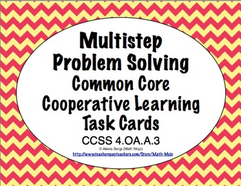 Common Core Math Task Cards - Multistep Problem Solving CCSS 4.OA.A.3