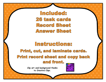 Common Core Math Task Cards - Ordering Decimals Tenths and Hundredths