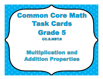 Common Core Math Task Cards - Pick the Properties