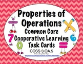 Common Core Math Task Cards - Properties of Operations CCSS 3.OA.5