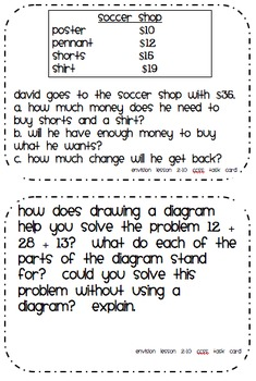 Common Core Math Task Cards Topic 2 Adding Whole Numbers