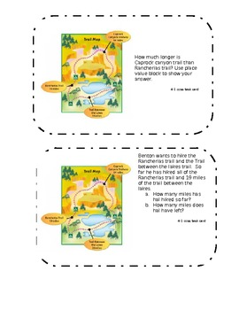 Common Core Math Task Cards Topic 4 Subtracting Whole Numbers