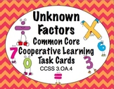 Common Core Math Task Cards - Unknown Factors CCSS 3.OA.4