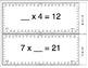 Common Core Math Task Cards - Unknown Factors CCSS 3.OA.4