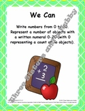 Common Core Math Task Cards for Grade K – CCSS.K.CC.A.3