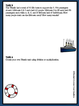 Math Task Center: The Titanic