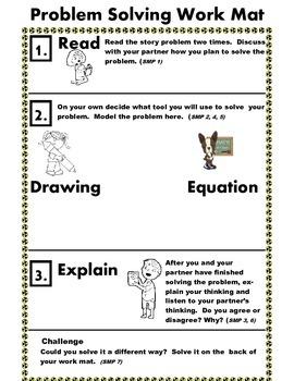 Common Core Math Task Workmat
