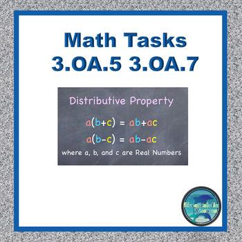Common Core Math Tasks 3.OA.5 and 3.OA.7