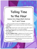 Common Core Math: Telling Time to the Hour Stations