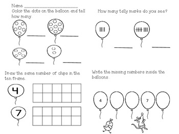 Common Core Math Ten Frame and Dots Freebie