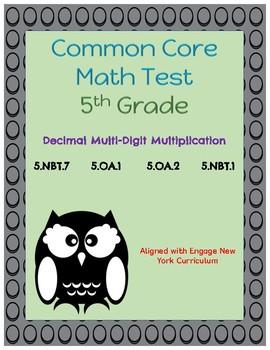 Common Core Math Assessment - 5th Grade (Module 2 Topic C)