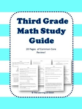 Third Grade Math Review: Common Core Aligned Study Guide