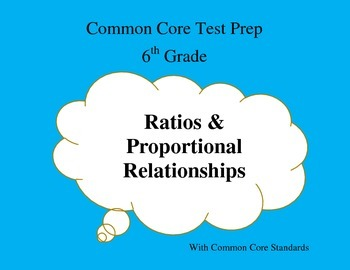 Common Core Math Test Prep 6th Grade Activity Task Cards Bundle (PARCC)