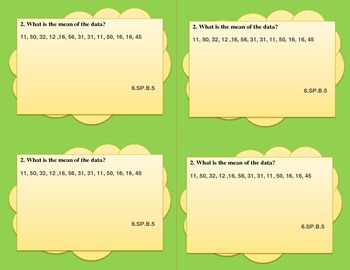 Common Core Math Test Prep 6th Grade Statistics and Probability (PARCC)