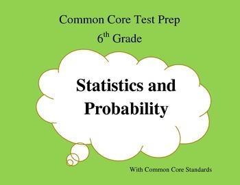 Common Core Math Test Prep 6th Grade Statistics and Probab