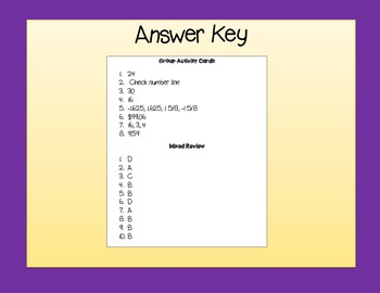 Common Core Math Test Prep 6th Grade The Number System