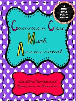 Common Core Math Test: Unit 1 *With Parent Study Guide*