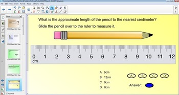Math Test Prep Word Problems for Grade 3 & 4 for the SMART Board