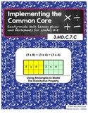 3.MD.C.7.C Using Rectangles to Model the Distributive Property of Multiplication