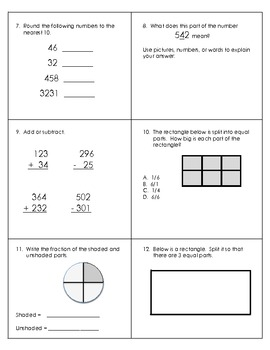 Common Core Math: Third Grade Part 1
