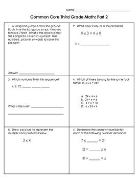 Common Core Math: Third Grade Part 2