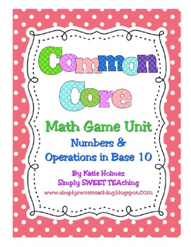 Common Core Math Tubs for First Grade (Numbers & Operations in Base Ten)