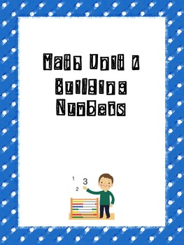 Common Core Math Unit Binder Cover Pages